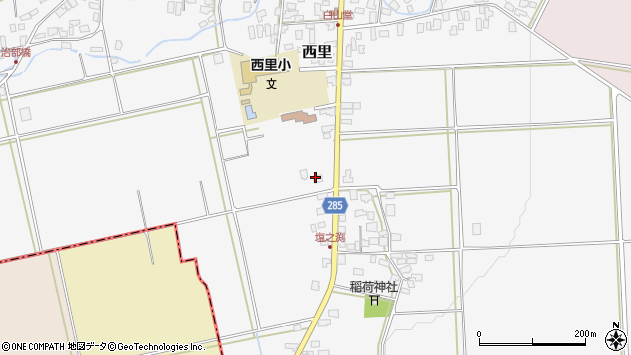山形県西村山郡河北町西里875周辺の地図