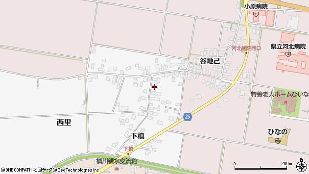 山形県西村山郡河北町西里下槇1074周辺の地図