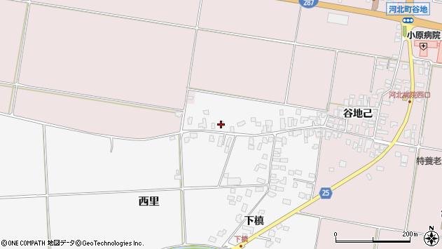 山形県西村山郡河北町西里下槇4882周辺の地図