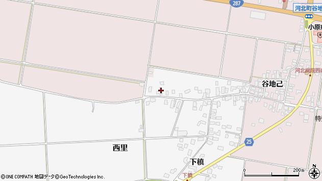 山形県西村山郡河北町西里下槇4884周辺の地図