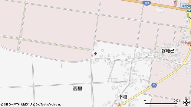 山形県西村山郡河北町西里下槇4887周辺の地図