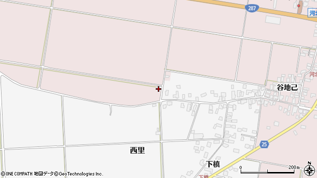 山形県西村山郡河北町谷地砂田912周辺の地図