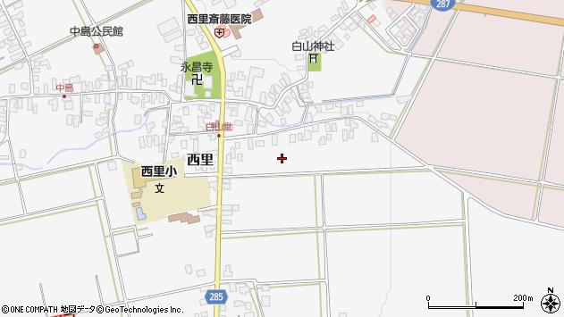 山形県西村山郡河北町西里白山堂周辺の地図