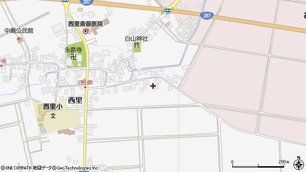 山形県西村山郡河北町西里608周辺の地図