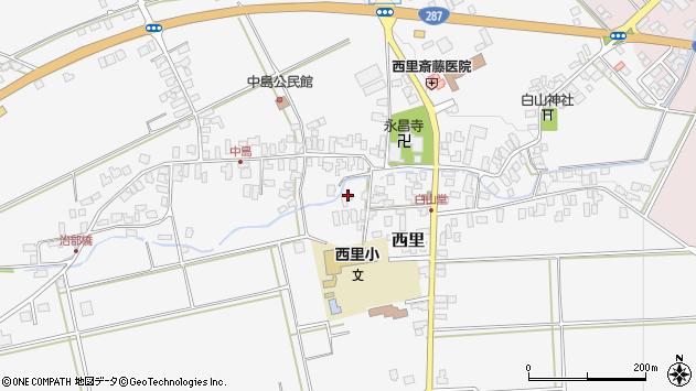 山形県西村山郡河北町西里537周辺の地図