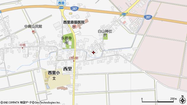 山形県西村山郡河北町西里668周辺の地図