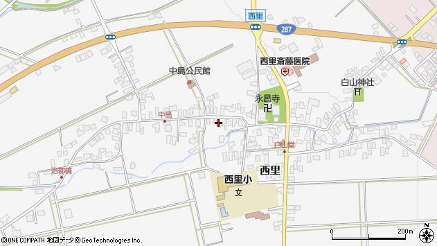 山形県西村山郡河北町西里1363周辺の地図
