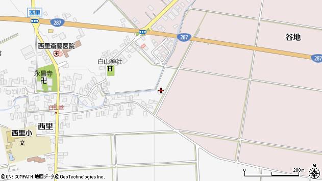 山形県西村山郡河北町谷地砂田1108周辺の地図