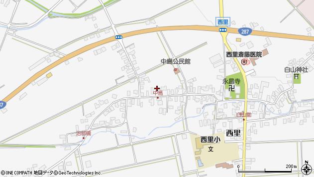 山形県西村山郡河北町西里488周辺の地図