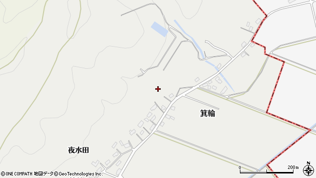 山形県寒河江市箕輪219周辺の地図