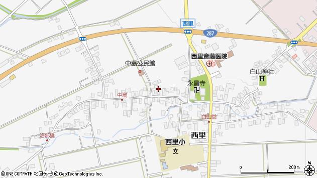 山形県西村山郡河北町西里1368周辺の地図