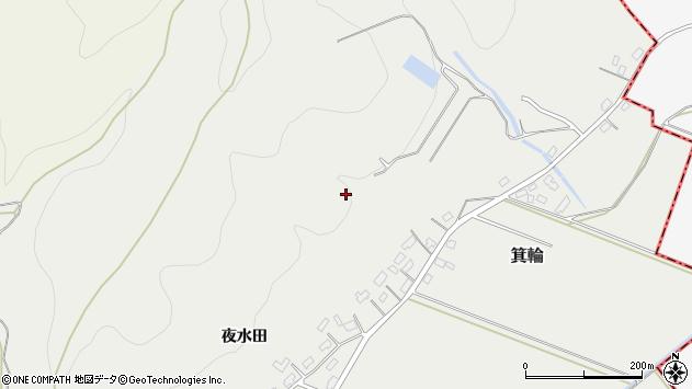 山形県寒河江市箕輪下屋敷周辺の地図