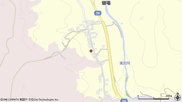 山形県寒河江市留場22周辺の地図