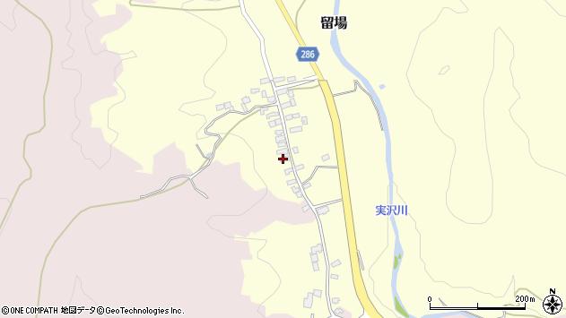 山形県寒河江市留場23周辺の地図