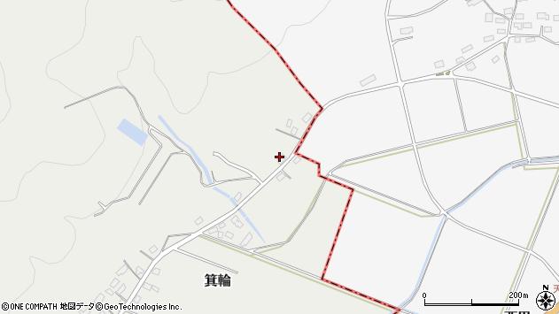 山形県寒河江市箕輪周辺の地図