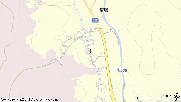 山形県寒河江市留場27周辺の地図