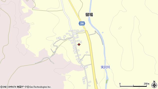 山形県寒河江市留場66周辺の地図