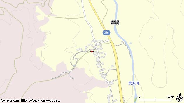 山形県寒河江市留場70周辺の地図