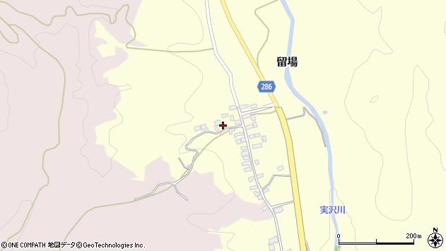 山形県寒河江市留場78周辺の地図