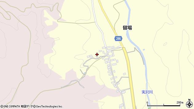 山形県寒河江市留場77周辺の地図