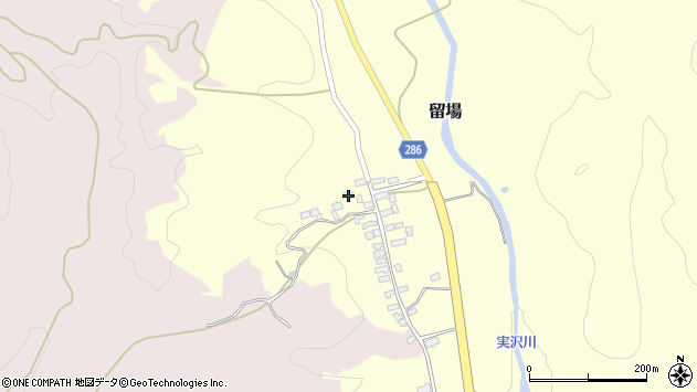 山形県寒河江市留場88周辺の地図