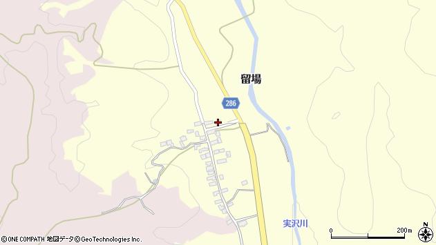 山形県寒河江市留場84周辺の地図
