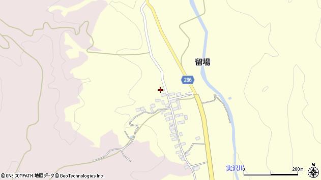 山形県寒河江市留場106周辺の地図