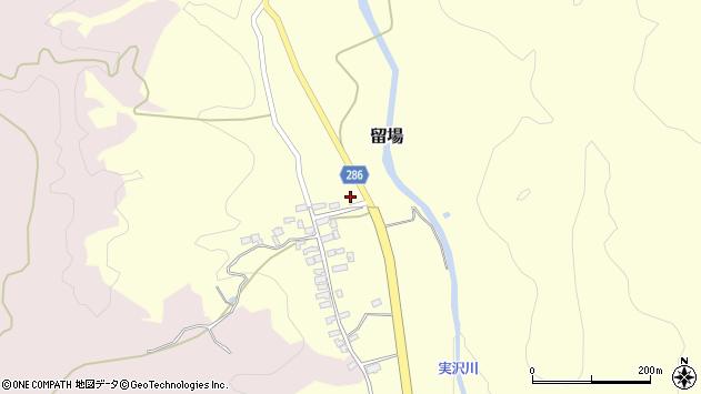山形県寒河江市留場82周辺の地図