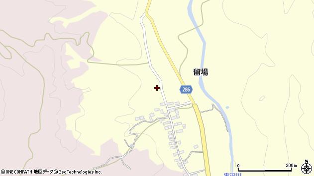 山形県寒河江市留場113周辺の地図
