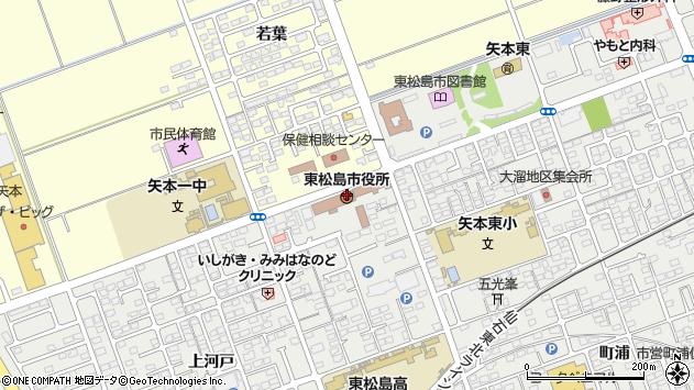宮城県東松島市周辺の地図