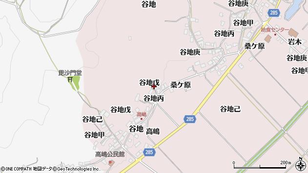 山形県西村山郡河北町谷地戊1087周辺の地図