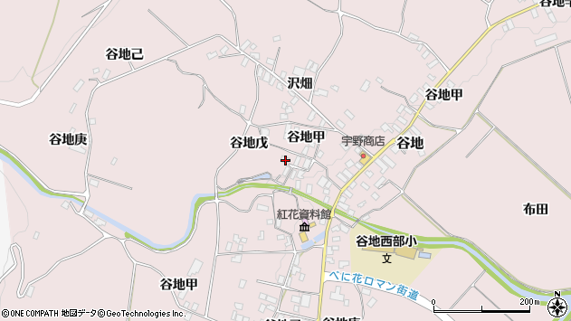 山形県西村山郡河北町谷地戊1193周辺の地図