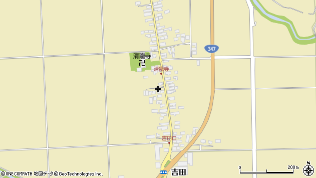 山形県西村山郡河北町吉田33周辺の地図