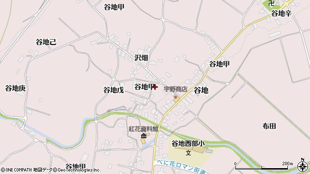 山形県西村山郡河北町谷地戊1186周辺の地図