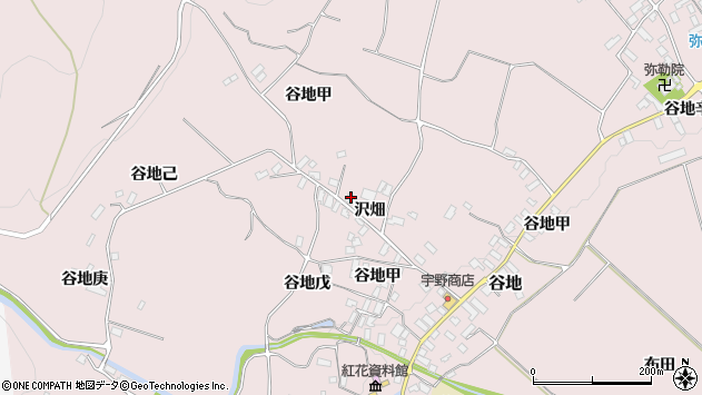 山形県西村山郡河北町谷地戊1257周辺の地図