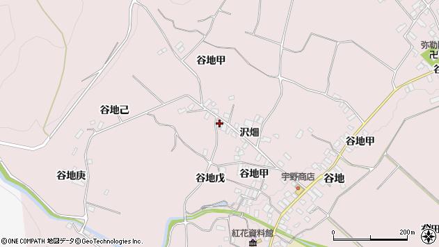 山形県西村山郡河北町谷地乙1136周辺の地図