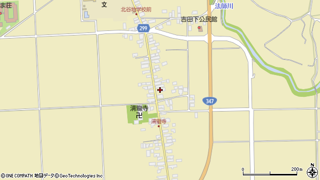 山形県西村山郡河北町吉田88周辺の地図