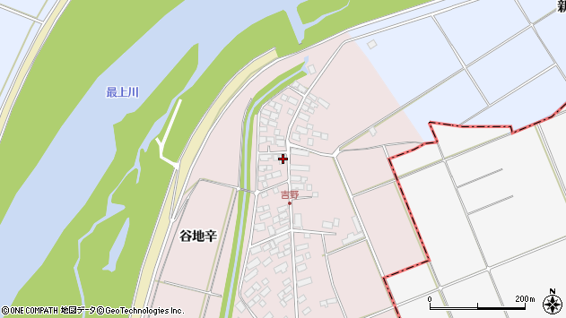 山形県西村山郡河北町谷地辛2104周辺の地図