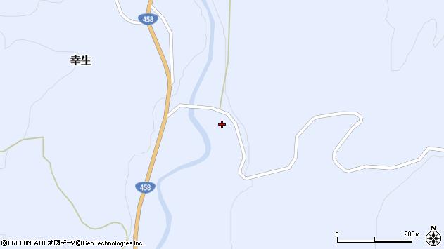 山形県寒河江市幸生赤田周辺の地図