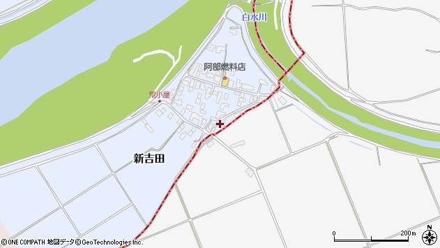 山形県西村山郡河北町新吉田626周辺の地図