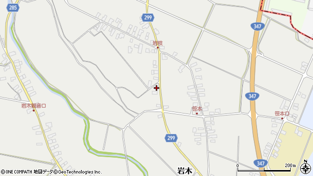 山形県西村山郡河北町岩木1046周辺の地図