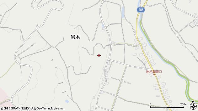 山形県西村山郡河北町岩木山口周辺の地図