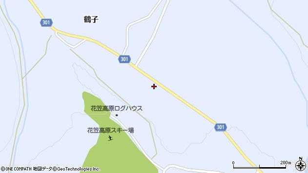 山形県尾花沢市鶴子932周辺の地図