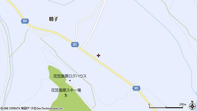 山形県尾花沢市鶴子1206周辺の地図