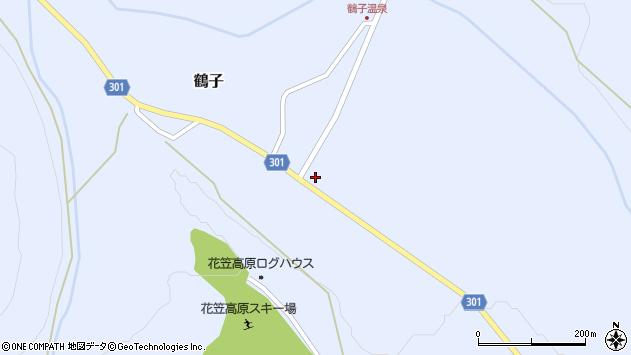 山形県尾花沢市鶴子879周辺の地図