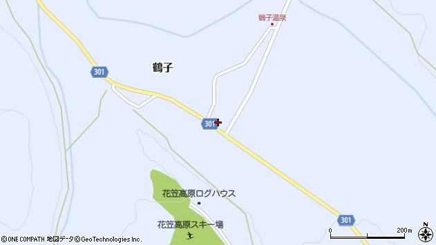山形県尾花沢市鶴子880周辺の地図