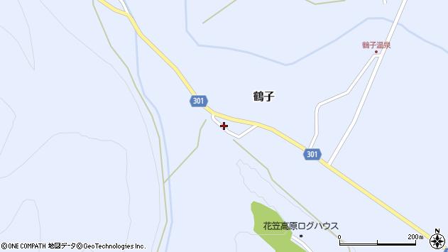 山形県尾花沢市鶴子814周辺の地図