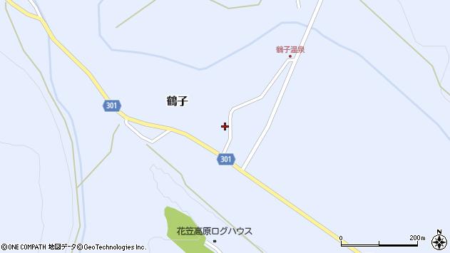 山形県尾花沢市鶴子897周辺の地図
