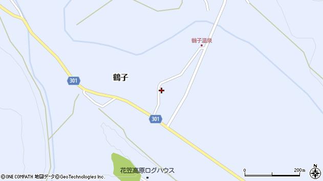 山形県尾花沢市鶴子900周辺の地図