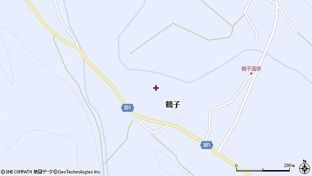 山形県尾花沢市鶴子市野々周辺の地図